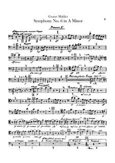 Symphony No.6 in A Minor 'Tragic': Trombones and bass tuba parts by Gustav Mahler