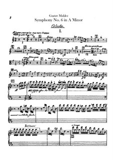 Symphony No.6 in A Minor 'Tragic': Celesta part by Gustav Mahler