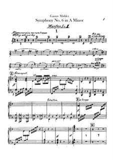 Symphony No.6 in A Minor 'Tragic': Harps part by Gustav Mahler
