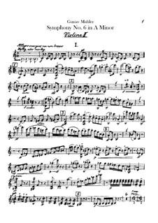 Symphony No.6 in A Minor 'Tragic': Violins II part by Gustav Mahler