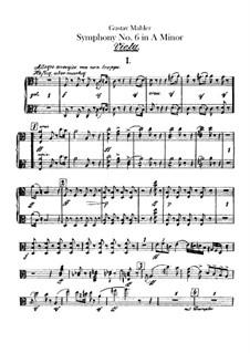 Symphony No.6 in A Minor 'Tragic': Violas part by Gustav Mahler