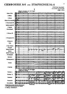 Symphony No.6 in A Minor 'Tragic': Movement I by Gustav Mahler
