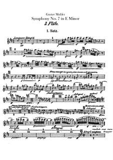 Symphony No.7 in E Minor: Flutes III, IV parts by Gustav Mahler