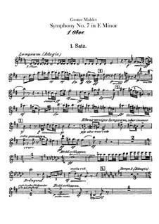 Symphony No.7 in E Minor: Oboes I, II parts by Gustav Mahler