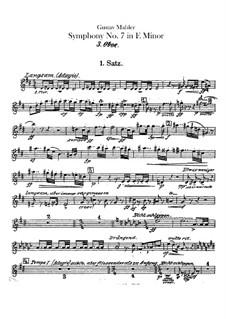Symphony No.7 in E Minor: Oboe III and cor anglais parts by Gustav Mahler