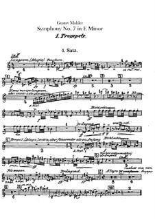 Symphony No.7 in E Minor: Trumpets parts by Gustav Mahler
