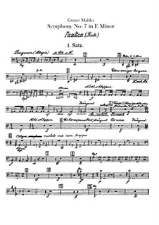 Symphony No.7 in E Minor: Percussion parts by Gustav Mahler