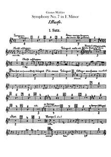 Symphony No.7 in E Minor: Harps parts by Gustav Mahler
