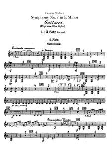 Symphony No.7 in E Minor: Guitar part by Gustav Mahler