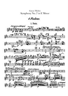 Symphony No.7 in E Minor: Violins I part by Gustav Mahler