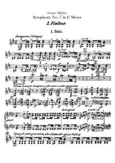 Symphony No.7 in E Minor: Violins II part by Gustav Mahler