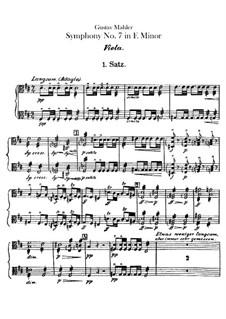 Symphony No.7 in E Minor: Violas part by Gustav Mahler