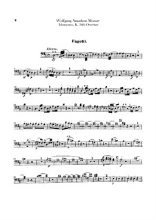 Overture: Bassoons parts by Wolfgang Amadeus Mozart