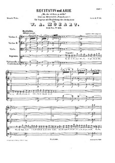 Ma che vi fece, o stelle, K.368: Ma che vi fece, o stelle by Wolfgang Amadeus Mozart
