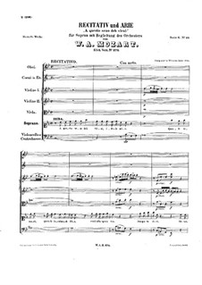 A questo seno deh vieni, K.374: A questo seno deh vieni by Wolfgang Amadeus Mozart