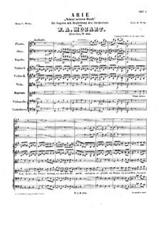 Nehmt meinen Dank, K.383: Für Stimme und Orchestr by Wolfgang Amadeus Mozart