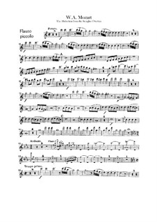 Overture: Flute piccolo part by Wolfgang Amadeus Mozart