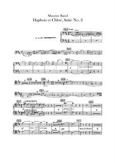 Daphnis et Chloé. Suite No.2, M.57b: Trombones and tuba parts by Maurice Ravel