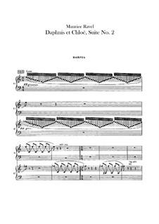 Daphnis et Chloé. Suite No.2, M.57b: Harps part by Maurice Ravel