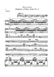 Daphnis et Chloé. Suite No.2, M.57b: Celesta part by Maurice Ravel