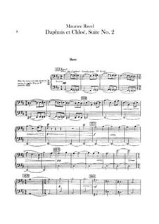 Daphnis et Chloé. Suite No.2, M.57b: Double bass part by Maurice Ravel