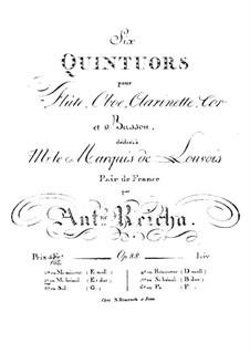 Woodwind Quintet in E Flat Major, Op.88 No.2: Flute part by Anton Reicha