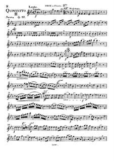 Woodwind Quintet in E Flat Major, Op.88 No.2: Oboe or flute II part by Anton Reicha