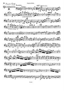 Woodwind Quintet in E Flat Major, Op.88 No.2: Bassoon part by Anton Reicha