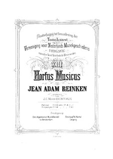 Hortus Musicus. Sonatas and Suites for Strings and Basso Continuo: Violin I part by Johann Adam Reincken