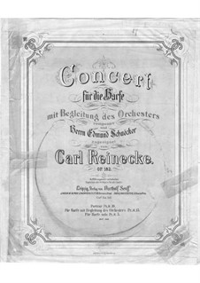 Concerto for Harp and Orchestra in E Minor, Op.182: Movements I-II – harp part by Carl Reinecke