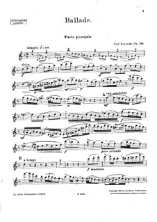 Ballade, Op.288: For flute and piano – solo part by Carl Reinecke