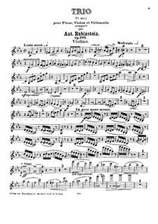 Piano Trio No.5 in C Minor, Op.108: Violin part by Anton Rubinstein