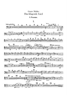 Das klagende Lied (Song of Lamentation): Trombones and bass tuba parts by Gustav Mahler