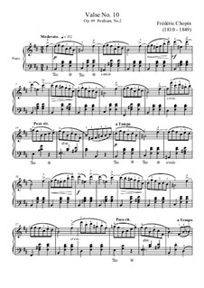 Waltzes, Op. posth.69: No.2 in B Minor by Frédéric Chopin