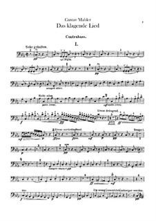 Das klagende Lied (Song of Lamentation): Double basses part by Gustav Mahler