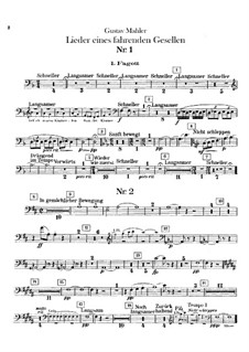 Lieder eines fahrenden Gesellen (Songs of a Wayfarer): For voice and orchestra – bassoons parts by Gustav Mahler