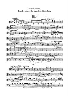 Lieder eines fahrenden Gesellen (Songs of a Wayfarer): For voice and orchestra –  viola part by Gustav Mahler