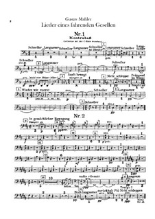 Lieder eines fahrenden Gesellen (Songs of a Wayfarer): For voice and orchestra – double bass part by Gustav Mahler