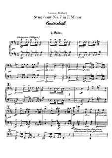 Symphony No.7 in E Minor: Double basses part by Gustav Mahler