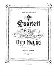 Piano Quartet in C Minor, Op.80: Piano Quartet in C Minor by Otto Malling