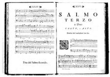 Estro poetico-armonico for Voices and Basso Continuo: Volume I. Psalm III by Benedetto Marcello
