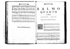 Estro poetico-armonico for Voices and Basso Continuo: Volume I. Psalm IV by Benedetto Marcello