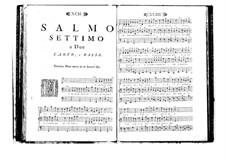 Estro poetico-armonico for Voices and Basso Continuo: Volume I. Psalm VII by Benedetto Marcello
