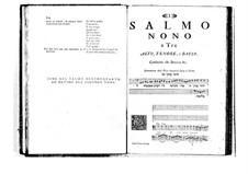 Estro poetico-armonico for Voices and Basso Continuo: Volume II. Psalm IX by Benedetto Marcello