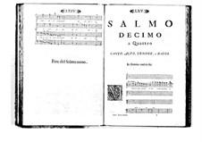 Estro poetico-armonico for Voices and Basso Continuo: Volume II. Psalm X by Benedetto Marcello