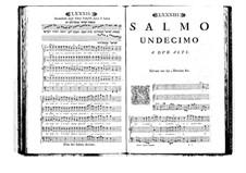 Estro poetico-armonico for Voices and Basso Continuo: Volume II. Psalm XI by Benedetto Marcello