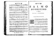 Estro poetico-armonico for Voices and Basso Continuo: Volume II. Psalm XII by Benedetto Marcello