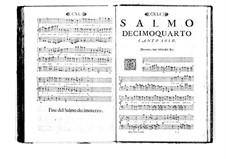 Estro poetico-armonico for Voices and Basso Continuo: Volume II. Psalm XIV by Benedetto Marcello