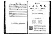 Estro poetico-armonico for Voices and Basso Continuo: Volume III. Psalm XVI by Benedetto Marcello