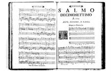 Estro poetico-armonico for Voices and Basso Continuo: Volume III. Psalm XVII by Benedetto Marcello
